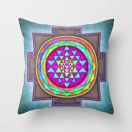 Sri Yantra VII.VII Throw Pillow