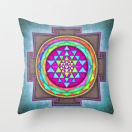 Sri Yantra VII.VII Throw Pillow