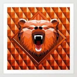 Bear Head Trophy Art Print