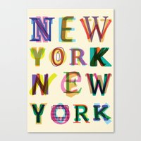 new york Canvas Prints featuring New York New York by Fimbis