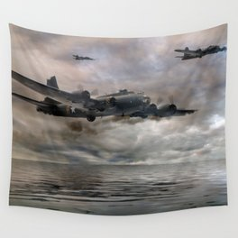 B-17 Flying Fortress - Almost Home Wall Tapestry