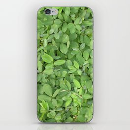 Abstract photo of green leaves iPhone Skin