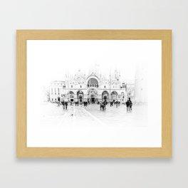 Piazza San Marco, Venice (Italy) Framed Art Print