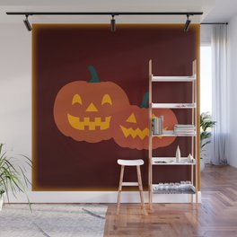 Jack-o-lanterns & Pattern Wall Mural