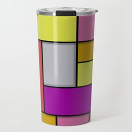 Mondrian #6 Travel Mug