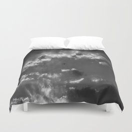 Plane and storm Duvet Cover