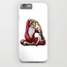 Yogi Santa Claus | Namaste Yoga Christmas Mantra iPhone Case