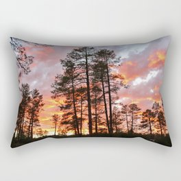 Sunset in the Pines Rectangular Pillow