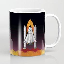 Space Shuttle night launch Coffee Mug