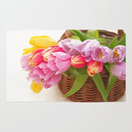Tulip in a basket Rug