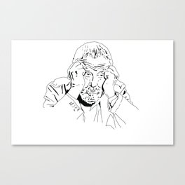 MIKE LEIGH ROUNDTABLE FACE Canvas Print