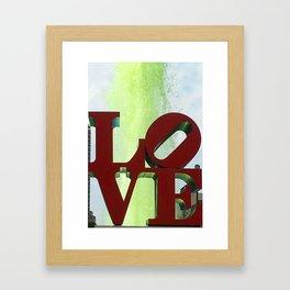 Philadelphia, City of Love Framed Art Print