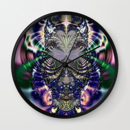 Fractal Owl Wall Clock