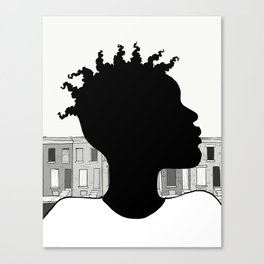 City Boy ( over East) Canvas Print
