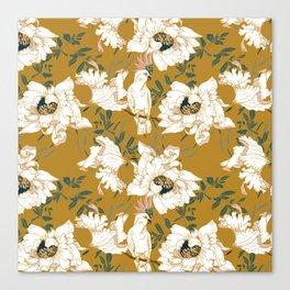 White tropical bird Canvas Print