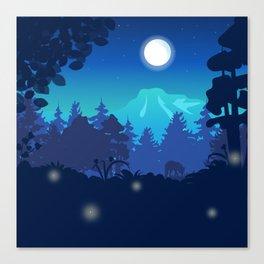 Moonlit Night Canvas Print