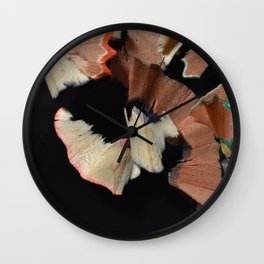 Colored Pencil Shavings Wall Clock