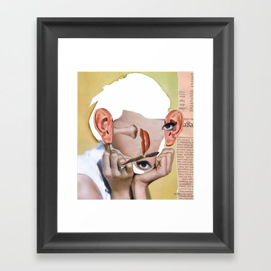 Audrey 2 Collage Framed Art Print