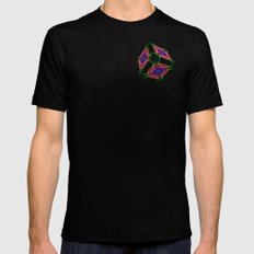 Oriental Smoke 3D Cube Black SMALL Mens Fitted Tee