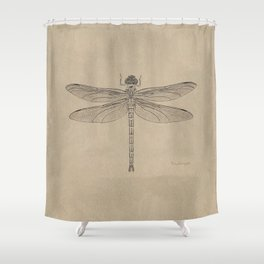 Dragonfly Fossil Dos Shower Curtain