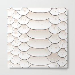 Snake skin texture. white background. Metal Print