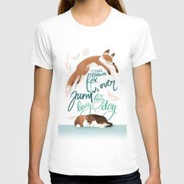 Pangram - The Quick Brown Fox T-shirt