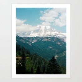 View of Mount Rainier on Film Art Print