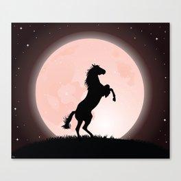 Moon Rider Canvas Print