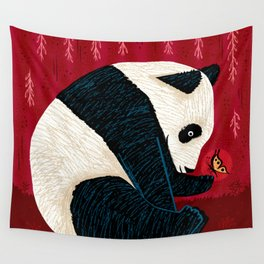 The Panda and the Butterfly Wall Tapestry