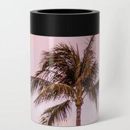Palm Tree Photography | Landscape | Sunset Unicorn Clouds | Blush Millennial Pink Can Cooler