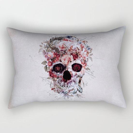 Floral Skull RPE Rectangular Pillow