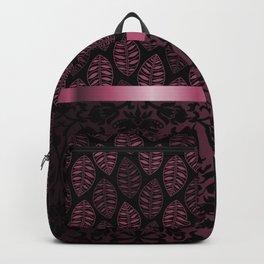 Pink Tint Skeleton Leave Pattern Backpack