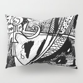 Unique Black and white drawing: 'VEX'  Pillow Sham