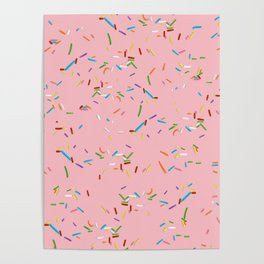 Pink With a Chance of Sprinkles - Colorful Pattern Poster