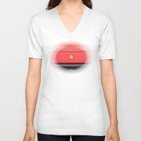 ferrari V-neck T-shirts featuring Ferrari 1 by Rainer Steinke