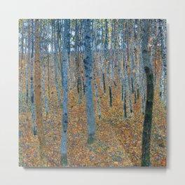 Gustav Klimt - Beech Grove I - Forest Painting Metal Print