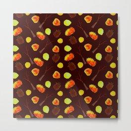 Autumnal brown pattern Metal Print