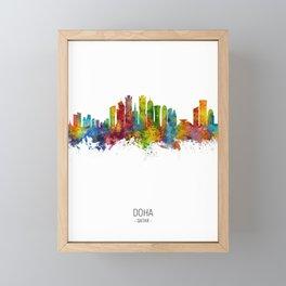 Doha Qatar Skyline Framed Mini Art Print