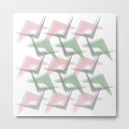 Flying Wings - Pink & Green Metal Print