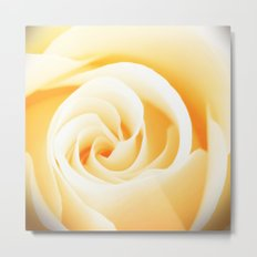 Rose´s heart II - Yellow beautiful rose flower Metal Print