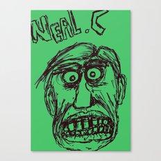 Neal cassady in green Canvas Print