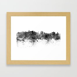 Havana skyline in black watercolor Framed Art Print
