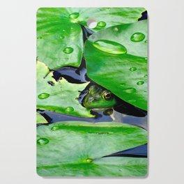 Peek  A Boo frog Cutting Board