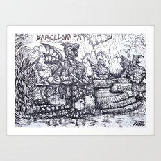 Parc de la Ciutadella Art Print