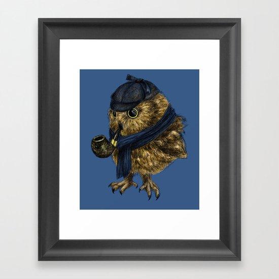 Sherlock // owl Framed Art Print