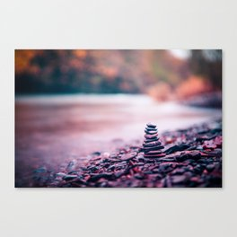 Pebble Stack Canvas Print