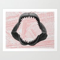 charmaine Art Prints featuring pondshark curated by CHARMAINE CHENG