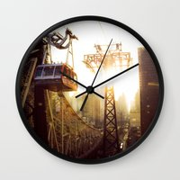 hook Wall Clocks featuring Hook, Line & Sinker by Phil Provencio