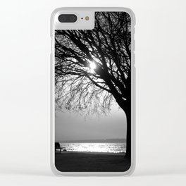 Silver and Silhouettes Clear iPhone Case