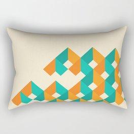 Pattern - Cube - Geen / Orange Rectangular Pillow